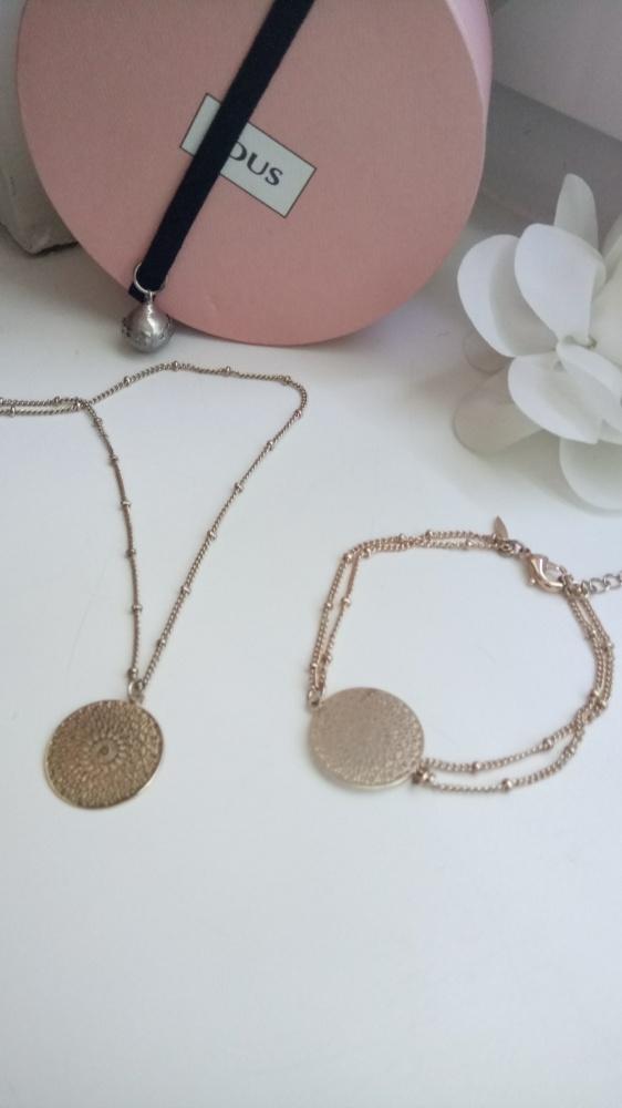 Złoty komplet biżuterii...