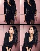sukienka czarna japan style M elegancka...