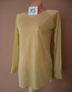 Bluzka neonowy żółty mgiełka XS
