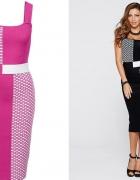 Różowa ołówkowa sukienka 44 46