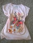 morelowa bluzeczka floral motyl
