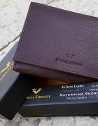 Portfel damski skóra Franco Firenza Brąz pudełko