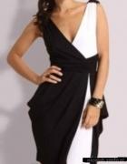 Sukienka bombka czarno biała XXS
