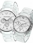 zegarek armani srebrny męski damski...