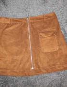 Spódnica zamszowa Pull&Bear rozmiar L...