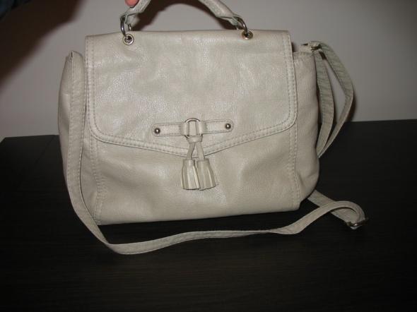 Beżowa torebka listonoszka H&M długi pasek
