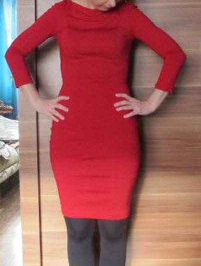 sukienka miss sixty XS 34 włoska czerwona