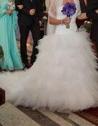 Piękna suknia slubna Ivanka z trenem rozm 36 38