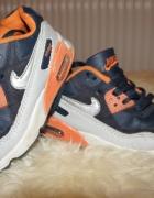 Buty Air Max dziecięce granatowe pomarańczowe