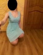 letnia sukienka 36 S 38 M turkusowa