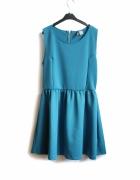 Sukienka H&M L 40 wesele studniówka rozkloszowana