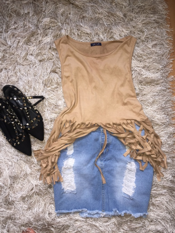 Spódnice Spodniczka jeansowa