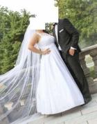 Piękna Sukna Ślubna rozmiar 38 40 GRATIS