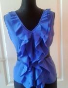 bluzka niebieska elegancka STYL Blair Woldorf