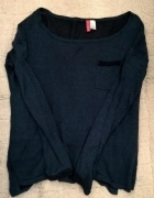 Granatowy sweterek H&M