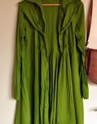 Tunika koszula zielona 40 42 L XL orginalna długa