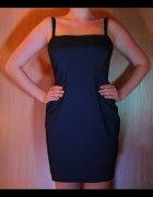Granatowaelegancka sukienka New Look