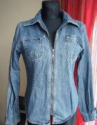Jeansowa grubsza koszula w roz 38 40