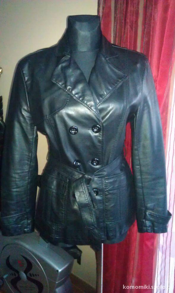 Czarna kurtka z eco skóry roz 42