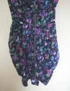 piękna sukienka floral asos tulipan zip