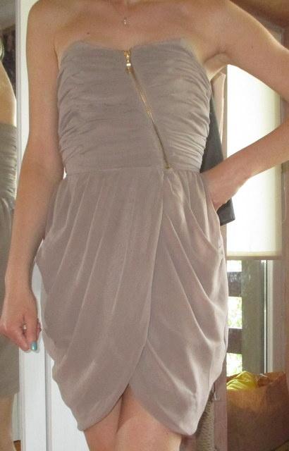 Bik Bok sukienka asymetryczna szyfon na wesele XS...