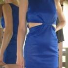 Sukienka LOVE z wycięciami na brzuchu XS