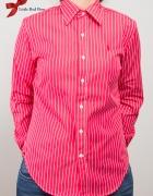 Czerwona w białe paseczki Koszula Ralph Lauren...