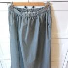 Szara długa spódnica maxi jeans S 36
