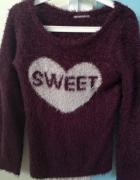 Burgundowy moherowy sweter