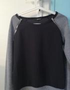 Szary sweter z suwakami