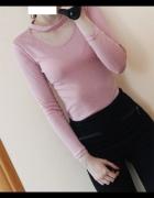 różowa bluzka choker nowa s xs