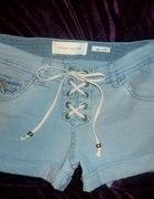 River Island jeansowe spodenki krótkie wiązane