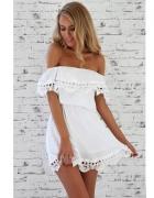 Biała sukienka hiszpanka...