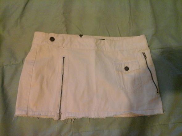 Biała spódniczka Pepe Jeans z suwaczkami M...