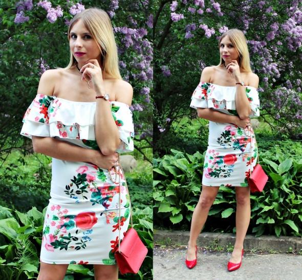 Blogerek Sukienka w kwiaty