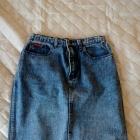 jeansowa spódniczka marmurkowa