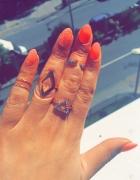 Złoty zestaw pierścionków...