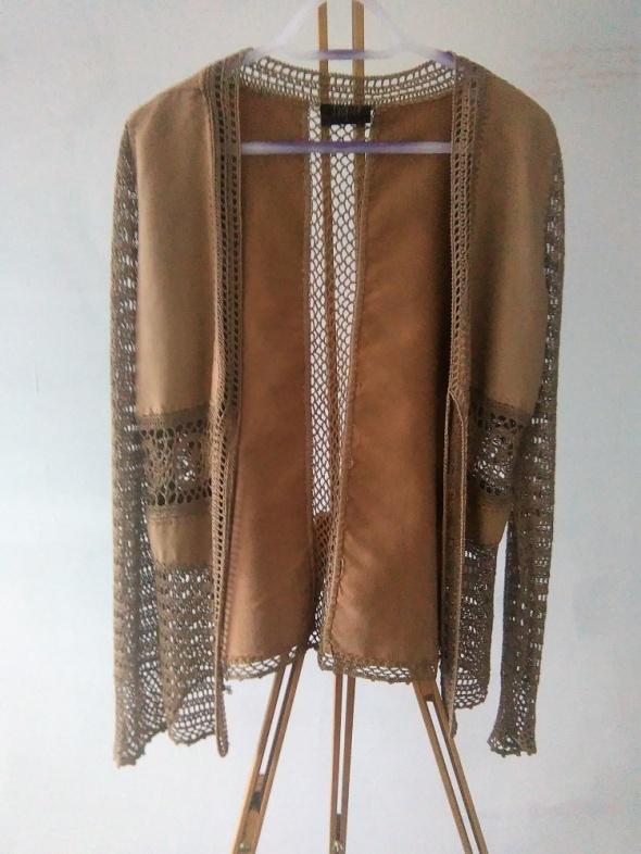 Swetry narzutka a la zamsz od 42 do 46