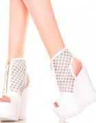 Botki białe sandały...