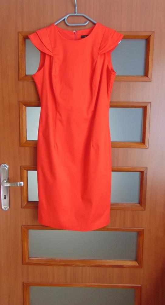 Suknie i sukienki Dunnes czerwona kobieca sukienka