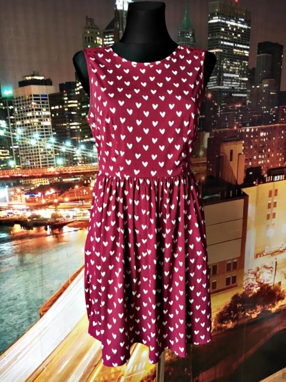 4361646384 new look sukienka serduszka serca koronka 38 M w Suknie i sukienki ...