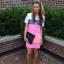 koronkowa neonowa sukienka asos