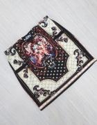 Spódnica mini aztec vintage boho retro S