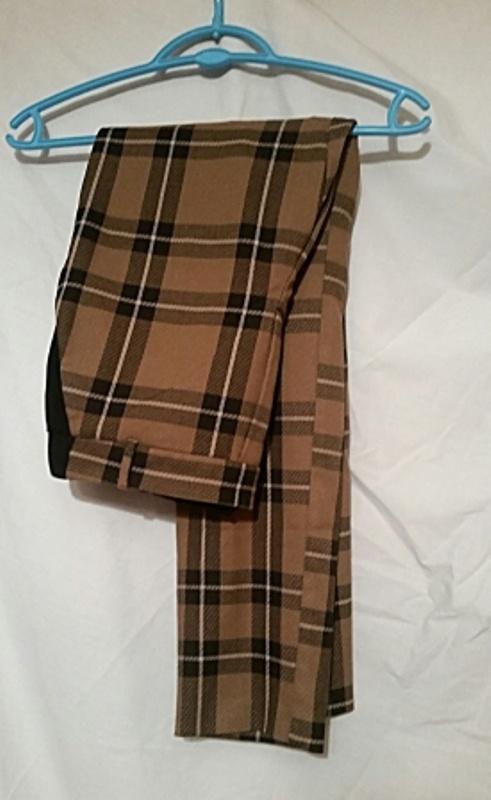 Spodnie Spodnie w brązowo czarną kratkę