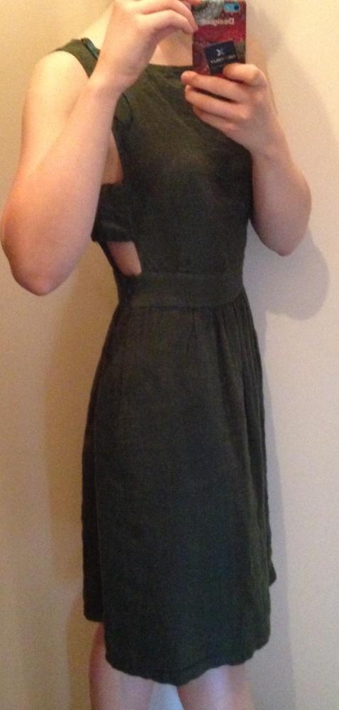 Suknie i sukienki SUKIENKA LNIANA ZARA XS wycięcia