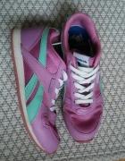 buty reebok adidasy różowo miętowe 37