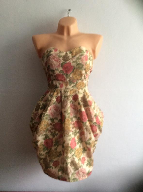 Sukienka gorset wytłaczane kwiaty...
