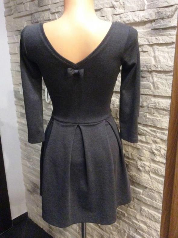 Suknie i sukienki NOWA szara Reserved dekolt ZARA XS S M Lou
