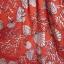 Czerwona biała sukienka rozkloszowana muszle lato