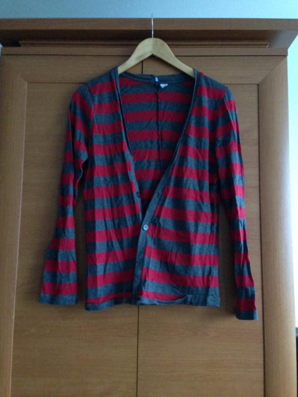 Swetry H&M sweterek w paski XS S najtaniej